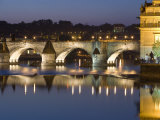 Charles Bridge and Smetana Museum Reflected in the River Vltava, Old Town, Prague, Czech Republic Photographic Print by Martin Child