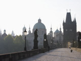 Charles Bridge, Church of St. Francis Dome, Old Town Bridge Tower, Old Town, Prague, Czech Republic Photographic Print by Martin Child