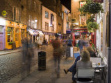 Cafe, Temple Bar, Evening, Dublin, Republic of Ireland, Europe Photographic Print by Martin Child