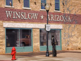 Standing on the Corner Park, Historic Route 66, Winslow, Arizona, USA Photographic Print by Richard Cummins