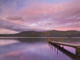 Sunset, Hawes End Landing Stage Jetty, Derwent Water, Lake District, Cumbria, England, UK Photographic Print by Neale Clarke