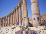 Oval Plaza, Jerash, a City of the Roman Decapolis, Jordan, Middle East Photographic Print by Neale Clarke