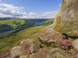 Ladybower Reservoir, Whinstone Lee Tor, Derwent Edge, Peak District National Park, England Photographic Print by Neale Clarke