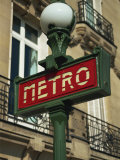 Metro Sign, Paris, France, Europe Photographic Print by Neale Clarke