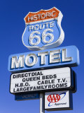 Route 66 Motel Sign, Seligman, Arizona, United States of America, North America Photographic Print by Richard Cummins