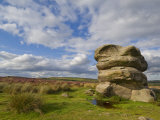 Eagle Stone, Baslow Edge Near Curbar, Peak District National Park, Derbyshire, England Photographic Print by Neale Clarke