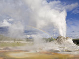 Eruption of Castle, Upper Geyser Basin, Yellowstone National Park, Wyoming, USA Photographic Print by Neale Clarke