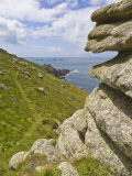 Part of the South West Coast Path at Mayon Cliff Near Land's End, Cornwall, England Photographic Print by Neale Clarke