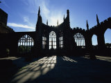 Christian Cathedral Ruins, Coventry, Warwickshire, West Midlands, England, UK Photographic Print by Neale Clarke