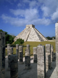 El Castillo from Mil Columnas, Grupo Delas, Chichen Itza, Yucatan, Mexico Photographic Print by Rob Cousins
