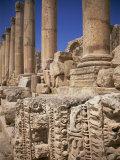 Columns of the Cardo, Roman Archaeological Site, Jarash, Jordan, Middle East Photographic Print by Neale Clarke