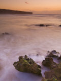 Sunset over Blurred Milky Water, Amoreira Beach Near Alzejur, Algarve, Portugal, Europe Photographic Print by Neale Clarke
