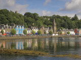 Multicoloured Houses and Small Boats in the Harbour at Tobermory, Balamory, Mull, Scotland, UK Photographic Print by Neale Clarke
