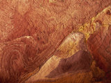 Close-Up of Polychromic Sandstone Rock Patterns, Petra, Jordan, Middle East Photographic Print by Neale Clarke