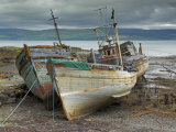 Wrecked Fishing Boats in Gathering Storm, Salen, Isle of Mull, Inner Hebrides, Scotland, UK Photographic Print by Neale Clarke