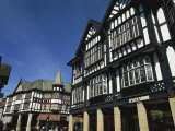 Tudor Fronted Buildings, Knifesmithgate, Chesterfield, Derbyshire, England, United Kingdom, Europe Photographic Print by Neale Clarke