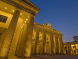 Brandenburg Gate with the Quadriga Winged Victory Statue on Top, Pariser Platz, Berlin, Germany Photographic Print by Neale Clarke