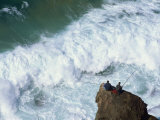 Fishermen on Rocks, Tonal Beach, Sagres, Algarve, Portugal, Europe Photographic Print by Neale Clarke