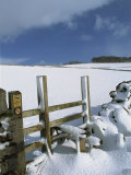 Snow Covered Stile, Hartington, Tissington Trail, Derbyshire, England, United Kingdom, Europe Photographic Print by Neale Clarke