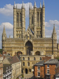 West Front of Lincoln Cathedral and Exchequer Gate, Lincoln, Lincolnshire, England, United Kingdom Photographic Print by Neale Clarke