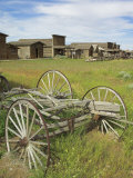Old Western Wagons from the Pioneering Days of the Wild West at Cody, Montana, USA Photographic Print by Neale Clarke
