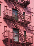 Pink Apartment Building in Soho District, Downtown Manhattan, New York City, New York, USA Photographic Print by Richard Cummins