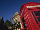 Red Telephone Boxes in Town Centre, Bakewell, Peak District National Park, Derbyshire, England, UK Photographic Print by Neale Clarke