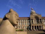 Guardian Statue and Council House, Victoria Square, Birmingham, England, United Kingdom, Europe Photographic Print by Neale Clarke
