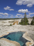 Blue Star Spring, Upper Geyser Basin, Yellowstone National Park, Wyoming, USA Photographic Print by Neale Clarke