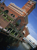 Building Beside the Canal, Brindley Place and Nia, Gas Street Basin, Birmingham, England, UK Photographic Print by Neale Clarke