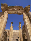 Cathedral, Jarash, Jordan, Middle East Photographic Print by Neale Clarke