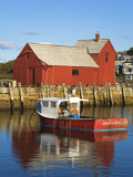 Boathouse in Rockport Harbor, Cape Ann, Greater Boston Area, Massachusetts, New England, USA Photographic Print by Richard Cummins