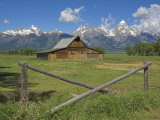 Moulton Barn on Mormon Row with the Grand Tetons Range, Grand Teton National Park, Wyoming, USA Photographic Print by Neale Clarke