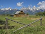 Moulton Barn on Mormon Row with the Grand Tetons Range, Grand Teton National Park, Wyoming, USA Photographic Print by Neale Clarke