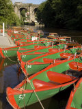 Rowing Boats for Hire on the River Nidd at Knaresborough, Yorkshire, England, United Kingdom Photographic Print by Rob Cousins