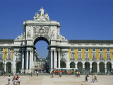Triumphal Arch, Praca Do Comercio, Square in the City of Lisbon, Portugal, Europe Photographic Print by Neale Clarke