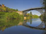 World's First Ironbridge over the River Severn at Ironbridge Gorge, Shropshire, England, UK Photographic Print by Neale Clarke