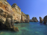 Rock Arches and Cliffs at Ponte Da Piedade Near Lagos, Algarve, Portugal, Europe Photographic Print by Neale Clarke