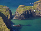 Carrick-A-Rede Rope Bridge to Carrick Island, Larrybane Bay, County Antrim, Ulster Photographic Print by Neale Clarke