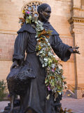 Statue of St. Francis of Assisi, St. Francis Cathedral, City of Santa Fe, New Mexico, USA Photographic Print by Richard Cummins