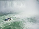 Maid of the Mist Tour Boat under the Horseshoe Falls Waterfall at Niagara Falls, Ontario, Canada Photographic Print by Neale Clarke
