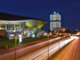 Bmw Welt and Headquarters Illuminated at Night, Munich, Bavaria, Germany, Europe Photographic Print by Gary Cook
