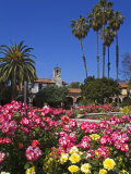 Roses, Central Courtyard, Mission San Juan Capistrano, Orange County, California, USA Photographic Print by Richard Cummins