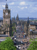 City Skyline and High Level View over Princes Street, City Centre, Edinburgh, Lothian, Scotland, UK Photographic Print by Neale Clarke