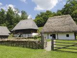 Homesteads, Astra Museum of Traditional Folk Civilization, Dumbrava, Sibiu, Transylvania, Romania Photographic Print by Gary Cook