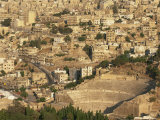 Roman Amphitheatre from Citadel, Amman, Jordan, Middle East Photographic Print by Neale Clarke
