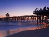 Municipal Pier at Sunset, San Clemente, Orange County, Southern California, USA Photographic Print by Richard Cummins