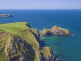 Carrick-A-Rede Rope Bridge to Carrick Island, Larrybane Bay, County Antrim, Northern Ireland Photographic Print by Neale Clarke