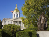 Franklin Pierce Statue, State Capitol, Concord, New Hampshire, New England, USA Photographic Print by Richard Cummins