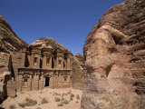 Ad Dayr, Rock Cut Nabatean Building known as the Monastery, Petra, Jordan, Middle East Photographic Print by Neale Clarke